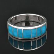Turquoise Rings for Men Hileman Silver Jewelry
