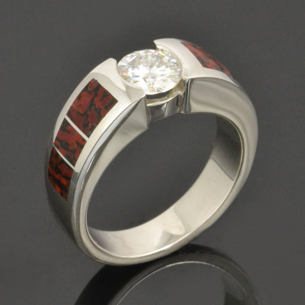 titanium of stainless rings lovely unique fossil ve ring think meteorite engagement red bone wedding steel dinosaur i coolest in